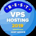 """Vergeben an Unternehmen in den Top 10 der Kategorie """"Bestes VPN-Hosting""""."""