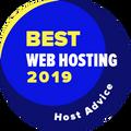 """Vergeben an Unternehmen in den Top 10 der Kategorie """"Bestes Web-Hosting""""."""