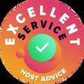 """Wir haben uns die Zeit genommen, um persönlich und anonym den Kundendienst eines jeden Unternehmens zu überprüfen.  Die """"Auszeichnung für Exzellenz"""" wird an jene Unternehmen vergeben, die den höchsten Standards von HostAdvice bezüglich Kundendienst entsprechen, was bedeutet, dass er sich als schnell, effizient, aufschlussreich und vor allem als hilfreich erweisen muss."""